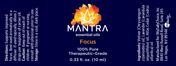 Mantra Focus Label