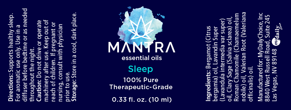 Mantra Sleep Label