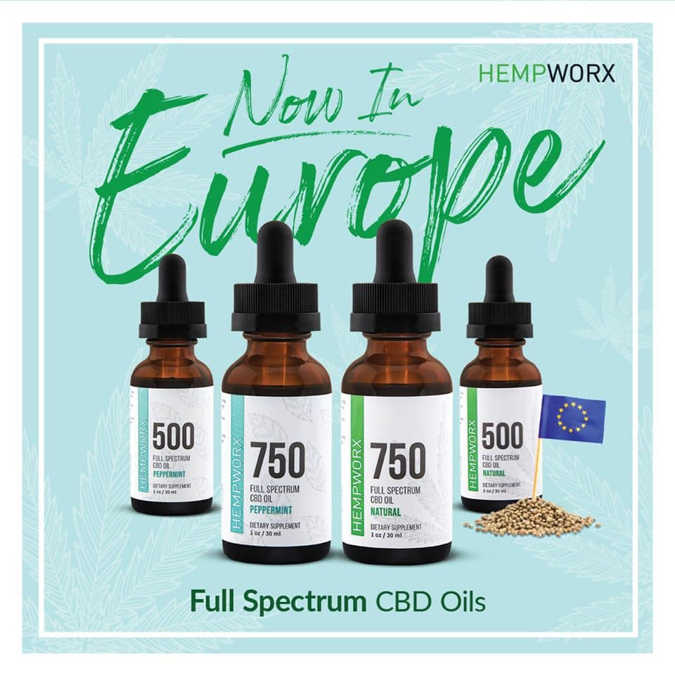HempWorx Europe Full Spectrum CBD Oils