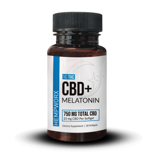 HempWorx Melatonin CBD Softgels, CBD sleep aid, Melatonin for sleep