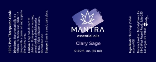 Mantra Clary Sage Product Label