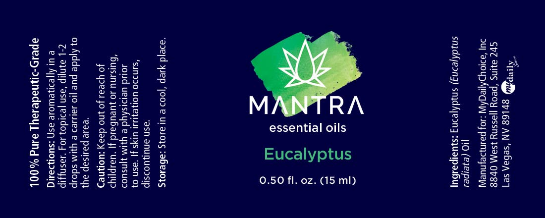 Mantra Eucalyptus Ingredients