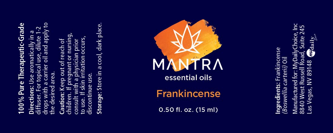 Frankincense Mantra Label