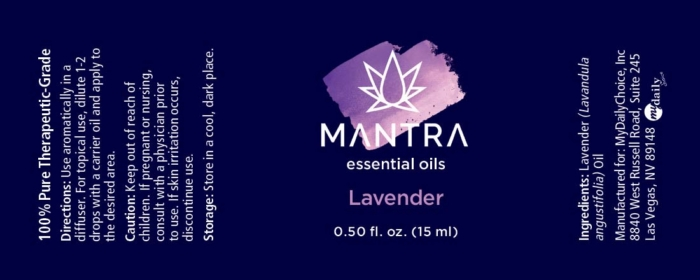 Mantra Lavender Product Label