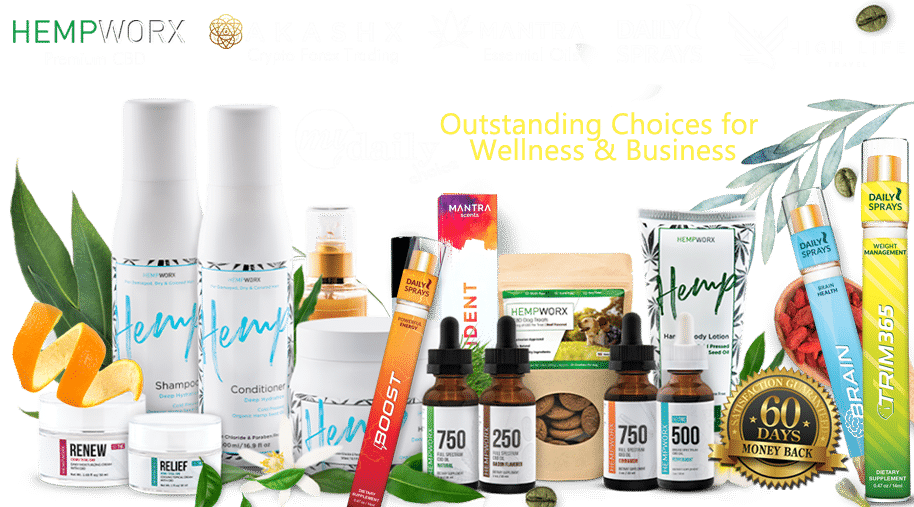 HempWorx MyDailyChoice Akashx Daily Sprays Mantra High Life